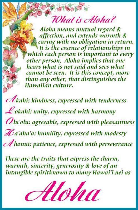 Aloha means