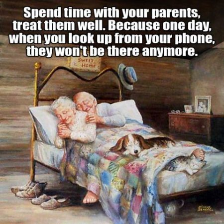 Spend time with your parents_old couple in bed